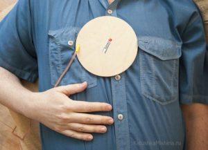 Лечебный диск Мишина на груди
